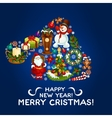 Happy New Year Merry Christmas design vector image vector image