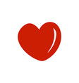heart icon design template isolated vector image