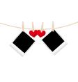 hearts clothespins 09 vector image vector image