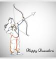 hindu festival dussehra background vector image