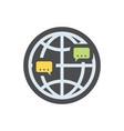 international communication dialog icon vector image