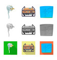 isolated object of electricity and electric icon vector image vector image