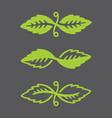 leaf logos vector image vector image