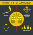 lung cancer logo icon design vector image vector image
