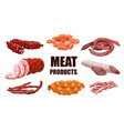 meat products set vector image vector image