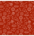 Medical HIV Aids seamless pattern with detailed vector image
