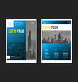 modern business corporate brochure flyer design vector image vector image