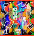 modern colorful ethnic style abstract greek vector image vector image
