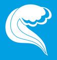 ocean or sea wave icon white vector image vector image