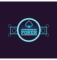 Round Blue Poker Neon Sign vector image vector image