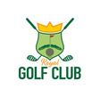 royal golf club crest vector image