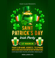 saint patricks day party poster or flyer design vector image