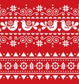 scandinavian christmas folk seamless pattern vector image vector image
