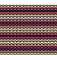 seamless horizontal knitting pattern vector image vector image