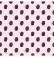 Seamless pattern background with plum fruit vector image