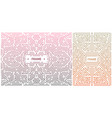 set abstract geometric design elements vector image vector image