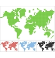 set dot world map vector image