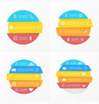 set elements for round infographic vector image