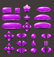 set game ui complete purple menu of graphical vector image vector image