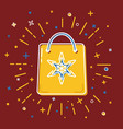 shopping bag icon in flat style vector image vector image