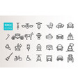 simple set vehicle and transportation l vector image