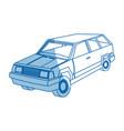 Suv car sport utility vehicle cartoon