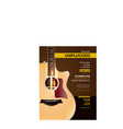 unplugged acoustic guitar concert poster vector image