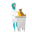 veterinarian examining pets vector image vector image
