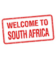 welcome to South Africa red grunge square stamp vector image vector image