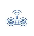 wireless joystick line icon concept wireless vector image vector image