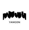 yangon myanmar city skyline negative space city vector image vector image