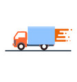 express delivery truck on a white background vector image