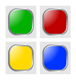 glossy icon vector image
