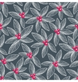 Floral seamless pattern on dark background vector image