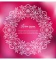 Invitation elegant template white ornamental frame vector image