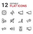12 loudspeaker icons vector image vector image