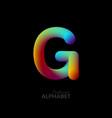 3d iridescent gradient letter g vector image vector image