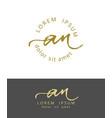 a n initials monogram logo design dry brush vector image vector image