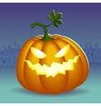 Angry helloween pumpkin vector image