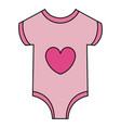 beautiful clothes baby vector image vector image
