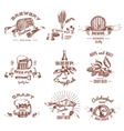 Beer Vintage Style Emblems vector image vector image