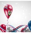Bermuda flag on balloon vector image vector image