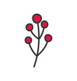 berries branch nature foliage decoration icon vector image vector image