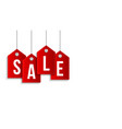 black friday sale banner sale red tag hanging on vector image vector image