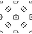 briefcase full of money pattern seamless black vector image vector image