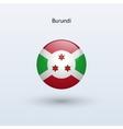 Burundi round flag vector image vector image