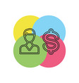 business man with dollar sign vector image vector image