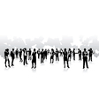 business people squares vector image vector image