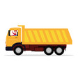 cartoon driver rides in a large truck vector image