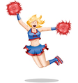 Cheerleader Jumps In The Air vector image vector image